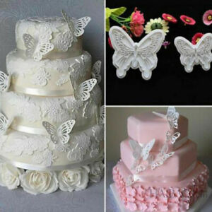 2x-Set-Butterfly-Cake-Fondant-Sugarcraft-Mould-Cookie-Plunger-Cutter-Mold-Too-Fw