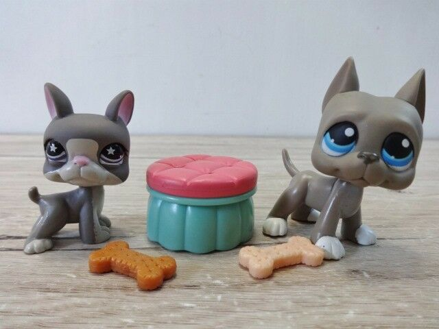 LPS Littlest Pet Shop bundle dog Great Dane and puppy & accessories