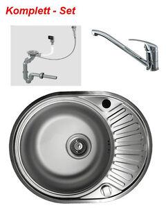 Edelstahlspüle GLATT Wasserhahn Küchenspüle Einbauspüle Spüle ...