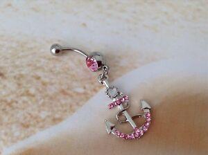 pink rhinestone anchor ring