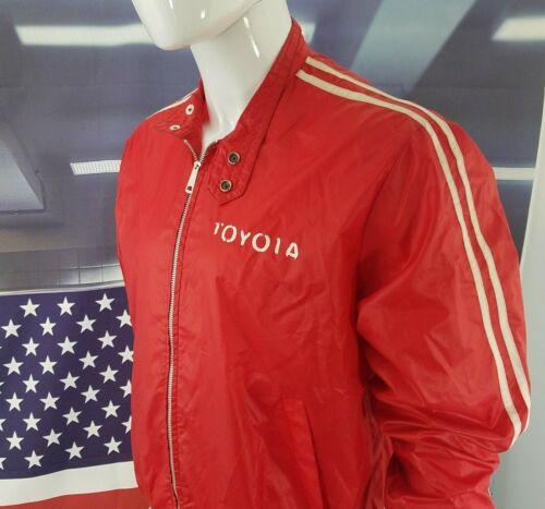 80s Toyota JACKET Racer Vintage WINDBREAKER Coat L