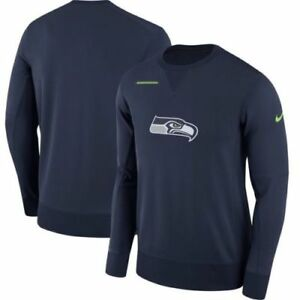 58c18d540d9 Image is loading Nike-NFL-Seattle-Seahawks-Therma-Crew-Sweatshirt-Blue-