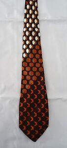 Cravate JEAN RISSER Paris marron/orange en soie