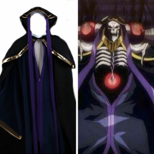Overlord Ainz Ooal Gown Outfit uniform Halloween Cosplay costume set NN.6113
