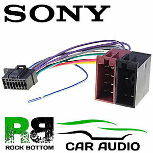 sony mex n4100bt car radio stereo 16 pin wiring harness loom iso rh ebay co uk Wiring Harness Connectors Sony Car Stereo Wiring Harness