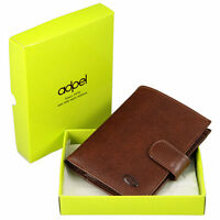 Leather Wallet / Purse : Hand Made In Italy : Chestnut Brown Tuscany Leather