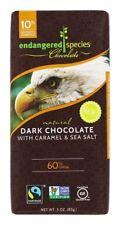 Endangered Species Chocolate Bar Dark Caramel Sea Salt 3 Oz Pack of 12