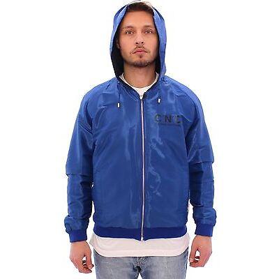 NWT $580 COSTUME NATIONAL C'N'C Blue Hooded Reversible Jacket Coat EU48/US38 /M