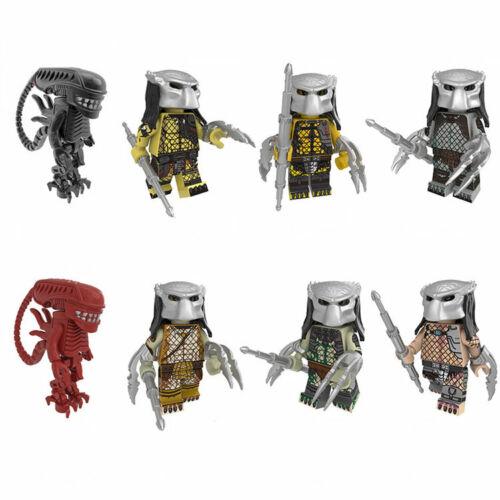 8pcs//set Cartoon Strange Creature Building Blocks Bricks Figures Models Toys