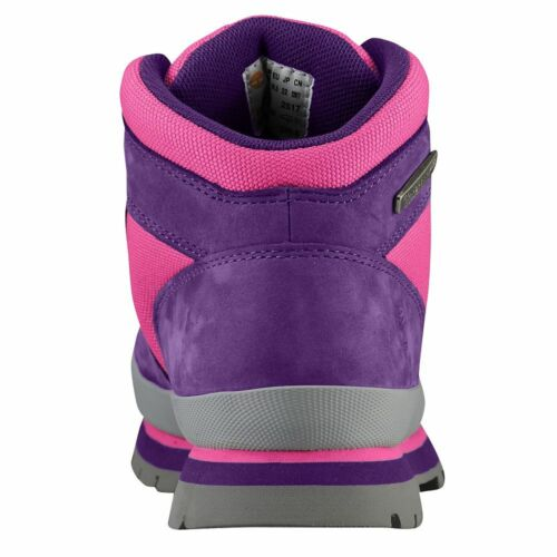 Purple//Pink Leather Girl/'s Hiking Boots TIMBERLAND 1091A EURO HIKER Jr/'s M