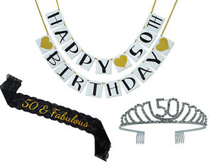 Image Is Loading 50th Birthday Party Supplies And Decorations Pack Sash