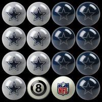 Nfl Dallas Cowboys Pool Ball Billiards Balls Set W/ Free Shipping
