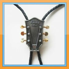 GUITAR COUNTRY MUSIC RODEO COWBOY BOLOTIE WESTERN BOLO TIE