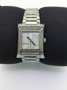 3a9c26b604b Authentic Gucci Swiss Made Ladies 111L Mother Of Pearl 35 Point ...