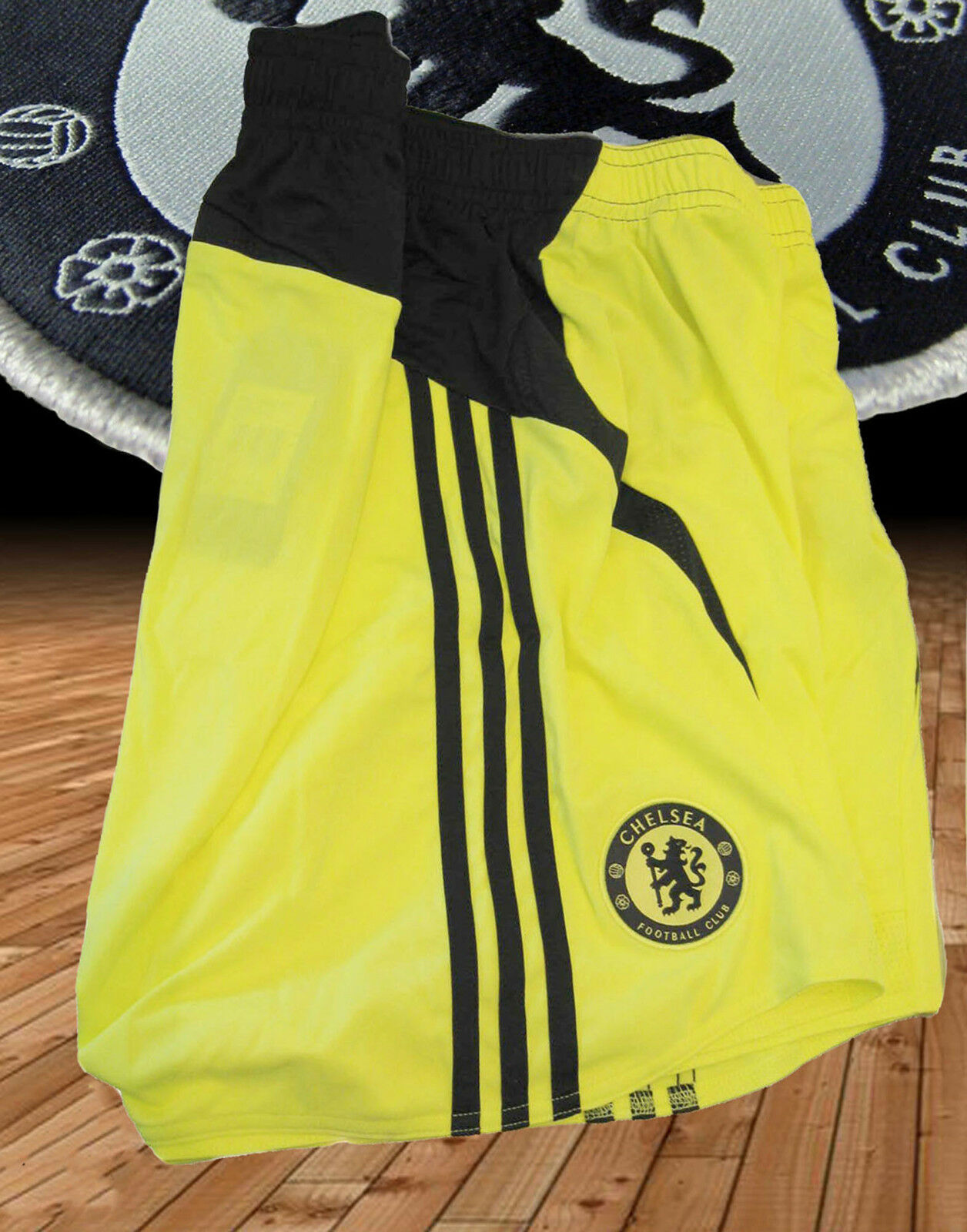 New Vintage adidas CHELSEA Football Shorts Player Issue Yellow 44