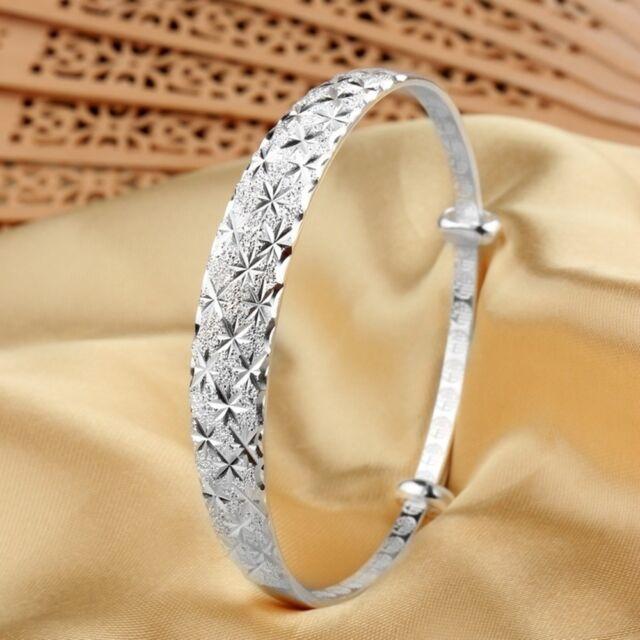 Women's Carve Full Star Bangle Cuff Bracelet Wedding Jewelry Adjustable N