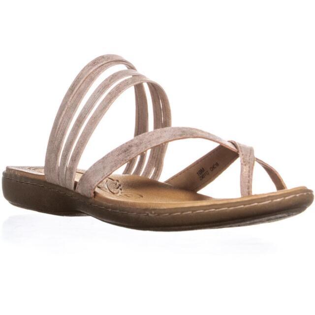 3b31487329bb Born Alisha Toe Strap Flat Slip On Sandals