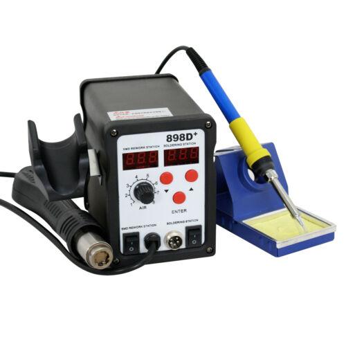 898d 110v SMD Electric Soldering Station Solder Iron Welding Kit W// 11 Tips