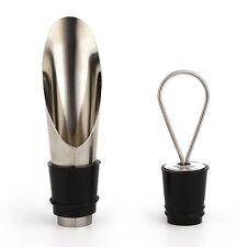 1 Set nuova in acciaio inox pompe a vuoto VINO ROSSO BOTTIGLIA TAPPO TAPPO Imbuto versatore