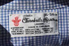 Turnbull & Asser 15/31 Gentleman's Lightweight Blue Check Dress Shirt - England
