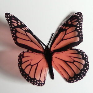 25-Pack-Butterflies-Salmon-5-to-6-cm-Cakes-Weddings-Crafts-Cards