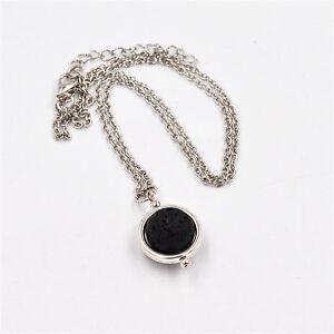 Lava-Stone-Rock-Heart-Pendant-Necklace-Yoga-Aromatherapy-Diffuser-Silver-Plated
