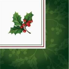 Boughs of Holly Beverage Napkins 16 Pack Christmas Winter Decoration