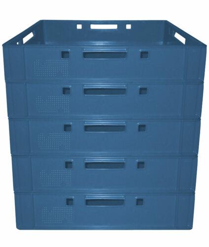 5 Fleischerkiste Fleischereikiste Eurokiste Metzgerkiste E1 Farbe Blau Gastlando