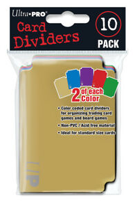 Ultra-PRO-Trading-Card-Storage-Dividers-10ct-Multi-5-Colours