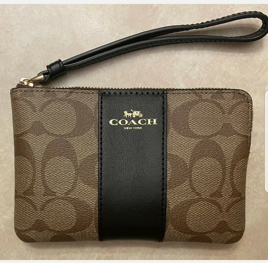 New Coach F58032 F58035 F88829 Corner Zip Wristlet /Wallet New With Tags
