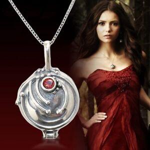 US Ship The Vampire Diaries Elena's Vervain Pendant Antique 925