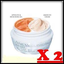 X 2 Avon Anew Clinical Eye Lift Dual Eye System - Upper Eye Gel+Under Eye 40 ml.