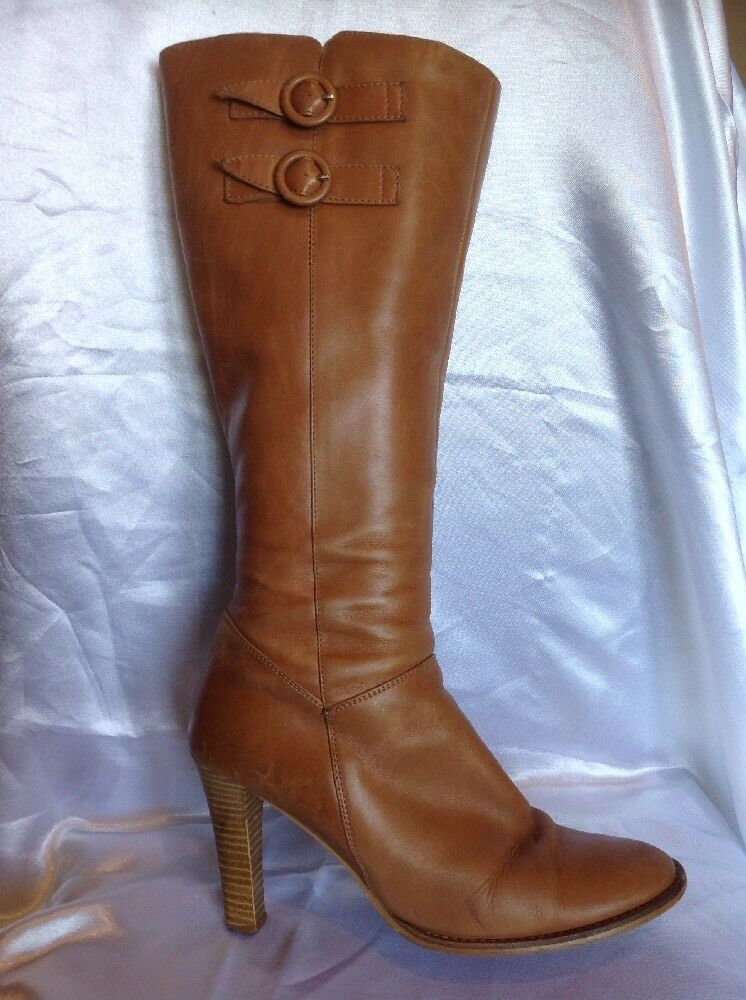 Jones Boot Maker Brown Knee High Leather Boots Size 40