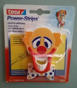 Tesa Powerstrips Zahnbürstenhalter Clown Zirkus Selbstklebende Haken
