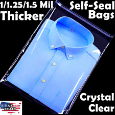 9x12 Poly Clear Plastic Bags 1005001k Self Adhesive T Shirt Apparel Resealable