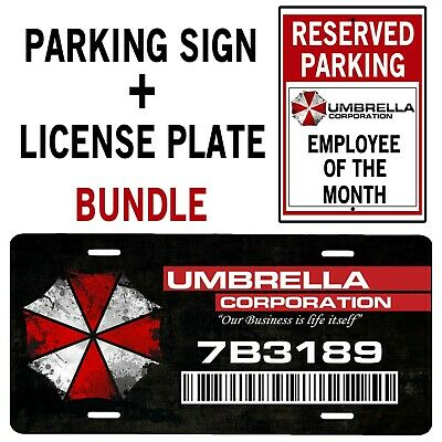 NOT Umbrella Resident Evil License Plate 6 X 12
