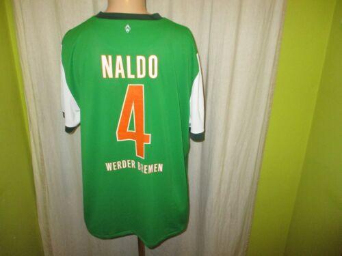 Werder Brême NIKE maillot 2009/10 aussi va Banque aujourd'hui + Nº 4 NALDO taille XXL