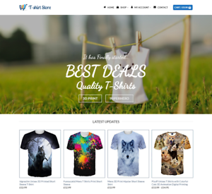 Web Hosting Free Domain T-shirts Store Website For Sale Earn £290.00 A SALE