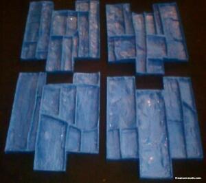 4-Deep-Dry-stack-Faux-ledgestone-vertical-Concrete-Cement-Stamps-Mats-New