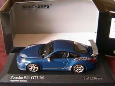 PORSCHE 911 997 MKII GT3 RS 2010 AQUABLAU METALLIC MINICHAMPS 400069101 1/43