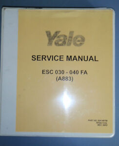 Yale-Service-Maintenance-Manual-100-YRM-0994-620-YRM-0294-ESC-030-040-FA-A883