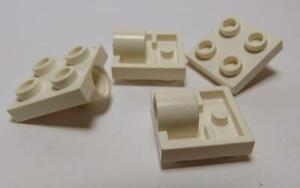Plate LEGO Parts~ Modified 2 x 2 with Pin Hole BLACK 2444 4