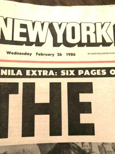 PICK World Event Newspaper NY Post ~Libya Argies Government Marcos Cult TWA Bomb