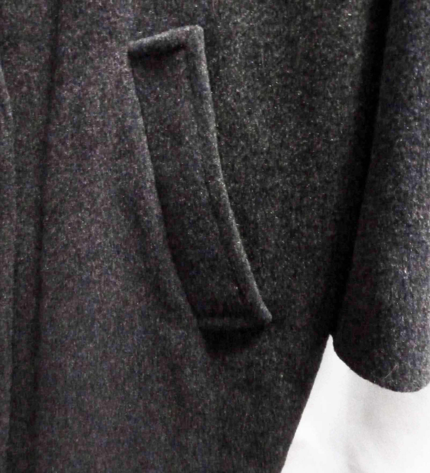 Vintage Gray Wool Top Coat Warm Heavyweight Overc… - image 5