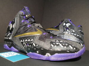 official photos 5a297 2074a NIKE LEBRON XI 11 - BHM BLACK HISTORY MONTH ANTHRACITE PURPLE GOLD ...