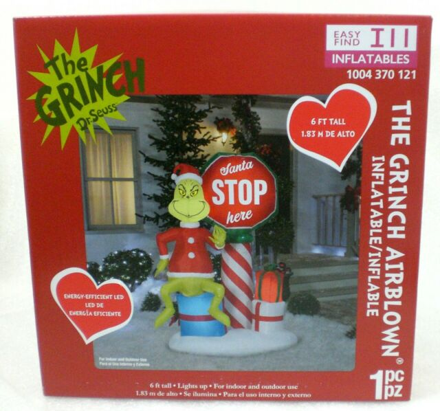 6 Foot Tall Christmas Inflatable Stop Sign Gift Boxes Yard Outdoor Decoration