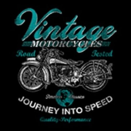 VINTAGE MOTORCYCLES JOURNEY INTO SPEED ROAD TESTED POCKET TEE T SHIRT