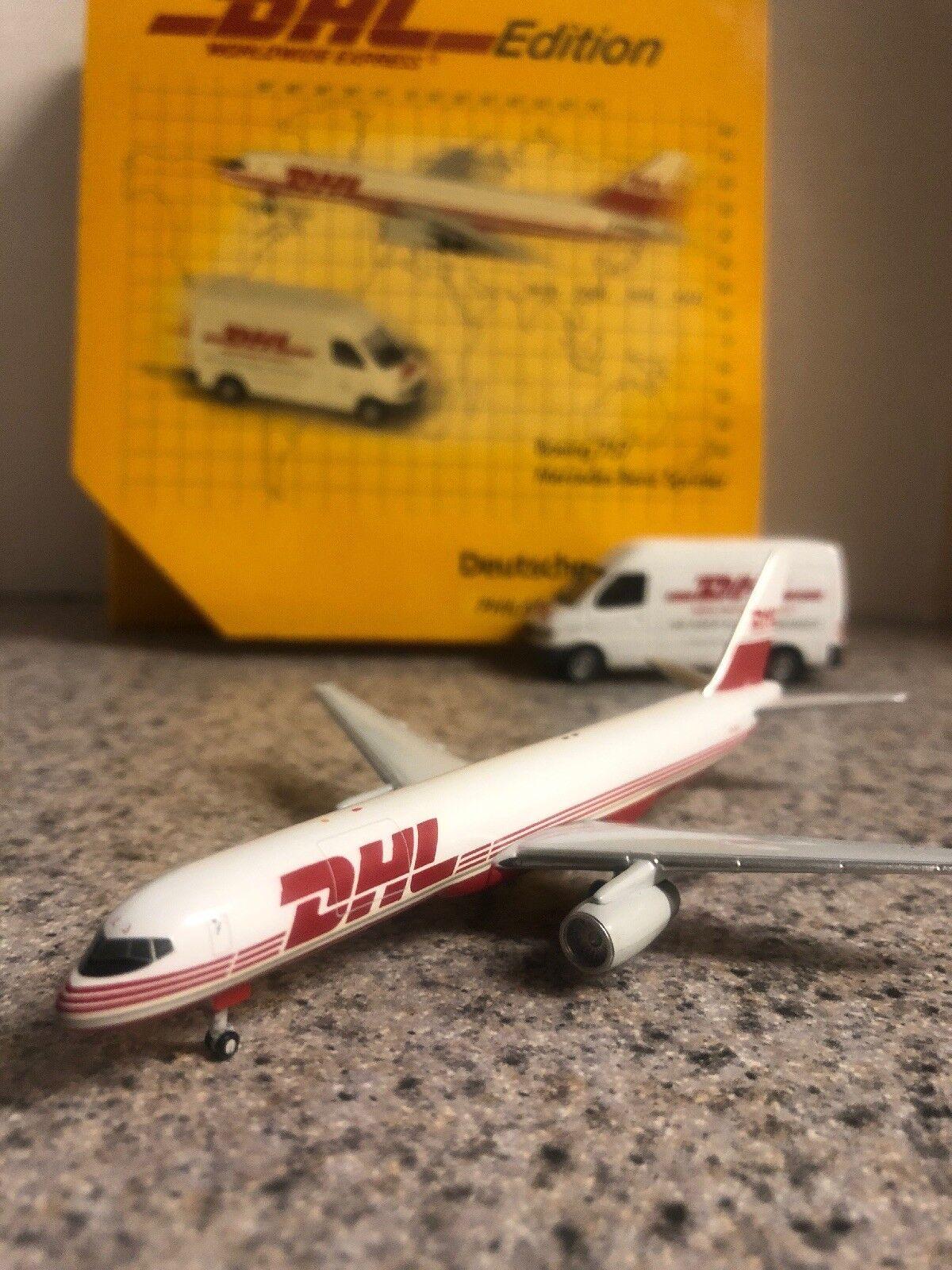 hasta un 50% de descuento Gj Limited Edition 400 escala escala escala Diecast Modelo DHL B757-2SF & Benz Van comercial avión OO-DLJ  online barato