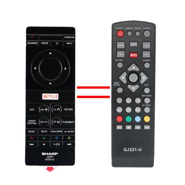 GJ221-U Remote Control for Sharp TV 1502225 C LC-43UB30U LC-50UB30U
