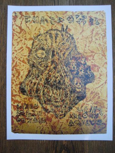 "B2G1F 11/"" x 8.5./"" Necronomicon missing page Poster Print Evil Dead"